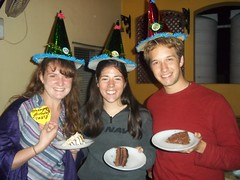 Tracy Moyers, Sarah Shoenhals, and Gabe Brunk all celebrated birthdays in one week which was a big deal