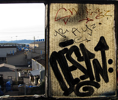 Snore, Ray, Destn (Rebirth Cycle) Tags: graffiti berkeley ray pop destn snore bmb ckr