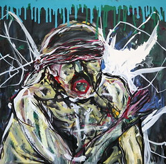 30  óleo sobre tabla     122x122 cm  2009 (arteneoexpresionista) Tags: rando jorge figuras pinturas neoexpresionismo