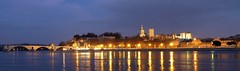 Avignon Skyline Panorama, France - Cité médiévale des Papes, Provence (Sir Francis Canker Photography ©) Tags: bridge blue panorama france castle history tourism rio wall skyline architecture alpes river puente dawn twilight europa europe exposure mediterraneo cotedazur dusk fiume great arches landmark visit icon palace tourist medieval historic paca unesco ponte pont histoire provence chateau avignon castello castillo icono magnifique palaisdespapes visita francais jeandarc fleuve provenza rhone rive lucena papal mediterranee pontdavignon palaceofthepopes magnific sirfranciscankerjones mediterranena stuuning tz10 zs7 citedespapes pacocabezalopez gettyimagesfranceq2