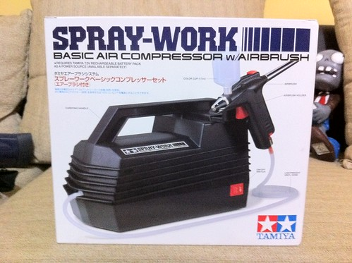 5562564415 839be73eb0 Pros and Cons Review of Tamiya Spray Work (Basic Air Compressor with Airbrush)