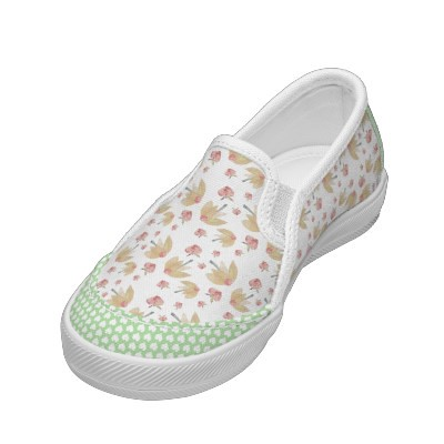 Flossies Garden Daisy Heart Shoe