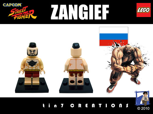 Custom minifig #07 - Zangief custom minifig
