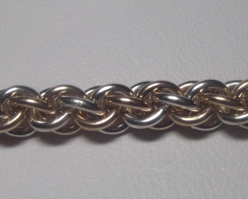 Sterling Silver & Gold-Fill, JPL3 Bracelet.