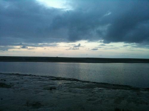 Trinidad Lagoon at dusk