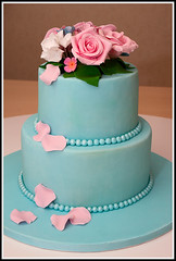 Mothers Day Cake (tortacouturecakes) Tags: pink flowers blue wedding roses white cake ticino day blossom coconut chocolate swiss pastel ganache pale mothers massa pineapple hydrangea pina meringue tier colada genoise buttercream