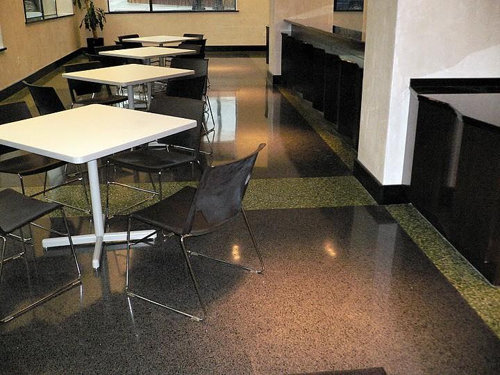 Terrazzo Cafe Floor After Restoration - Kansas City, MO