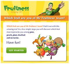 Applicazione Facebook Mr Fruitness