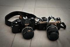 Old Time Nikons (Paulo N. Silva) Tags: film nikon fe fm3a ais analogic fm3 filmphotography nikkors oldlenses