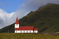 Memories (dtrsommer) Tags: vic iceland church colour mountain sky rock green travel