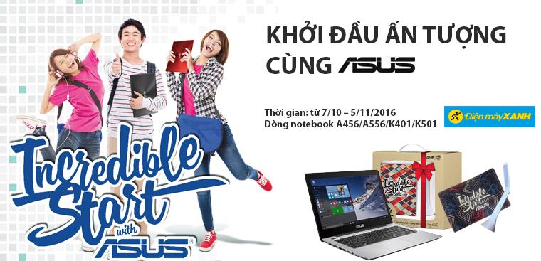 Mua laptop Asus A456,A556,K401,K501 nhận bộ combo quà tặng độc đáo