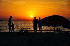 Sunset (letkata) Tags: silhouette jumeirah beach umbrella dubai uae water unitedarabemirates mydubai