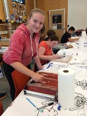 Screen Printing Camp (Multnomah County Library) Tags: rockwoodlibrary rockwood mclrockwoodmakerspace teens screenprint 2016