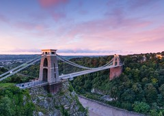 Clifton Suspension Bridge (brwestfc) Tags: clifton suspension bridge bristol brunel isambard kingdom road crossing dawn sky pink autumn morning light landscape