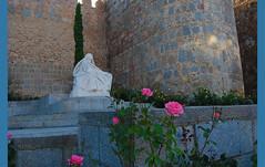 Escultura de Teresa de Jess (BONNIE RODRIGUEZ BETETA) Tags: esculturas vila santateresa teresadejess flores murallas