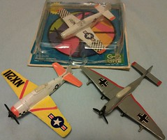 MANDARIN F8F-2 # B-11, Ju87B # B-12, & P-51 # B-13 (NyamalaTone) Tags: toy airplane avion jouet juguete vintage collectible flugzeug