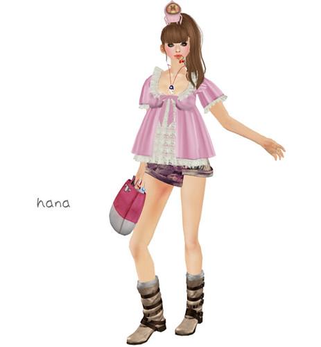 ***Ambrosia***girly tunic[pink]