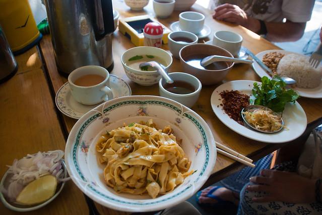 Khao Shwe Thoke (Noodle Salad), Mandalay, Myanmar