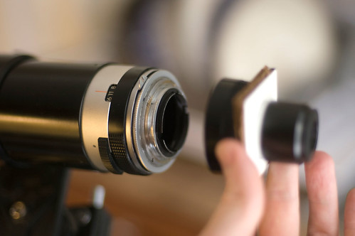 Building a telescope from a telephoto camera lens atm optics
