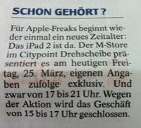 WAZ Bochum zum Apple iPad 2