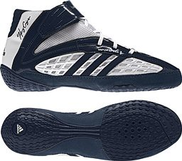 adidas Vaporspeed III Navy White wrestling shoes