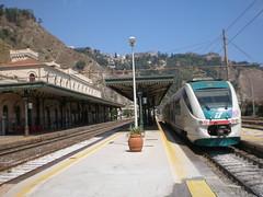 Taormina Train Station (szczepan.lemanczyk) Tags: trains taormina italiantrains trainsonsicily