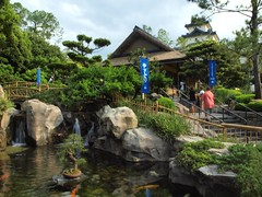 Little Japan in big Disney (al-absi) Tags: world house lake fish japan creek temple orlando micky goldfish florida magic kingdom olympus disney land pound         1442mm   e620