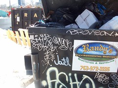 dumpster tags (Reckless Artist) Tags: colddayfun
