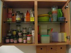 i pensili montati in cucina