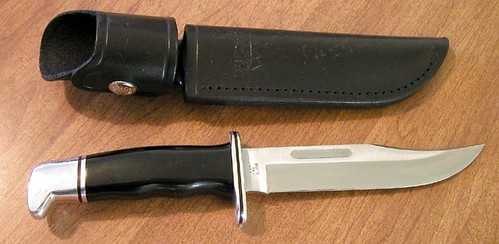 "Buck Special Hunting Knife 6"" Blade, Black Phenolic Handles"