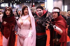 Scarlet Witch, Ghost, Mister Sinister, Wiccan (BelleChere) Tags: chicago costume comic cosplay ghost marvel wiccan darkhorse scarletwitch c2e2 mistersinister