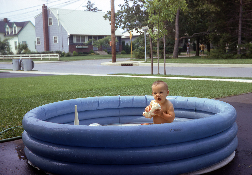 Tommy in the kiddie pool