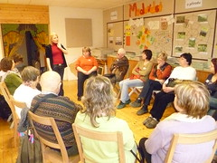 Návštěva sdružení Rezekvítek a interaktivní přednáška o třídění odpadu a o lese, 18. 3. 2011