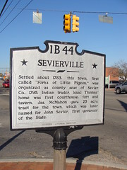 Historical Marker (Sevierville, Tn. Founding History) (bamaboy1941) Tags: tn sevierville