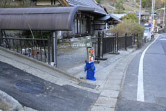 浅間尾根の登山道入口