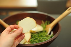 thin apple slices (sassyradish) Tags: cooking apple salad vegan vegetarian kosher fennel passover sassyradish arugula glutenfree parve