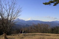 小仏城山の山頂から見た富士山