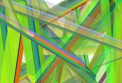 Disegno astratto in verde