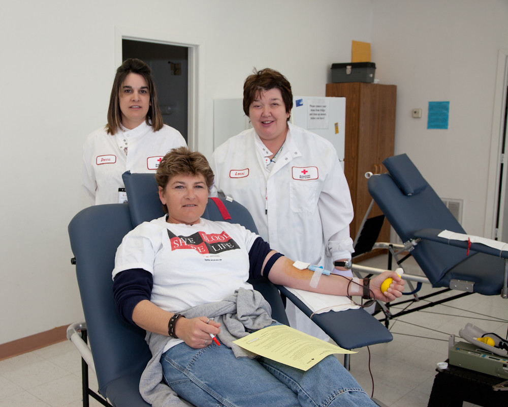 CPI Team Member Tammy Pugh Donates Blood During Recent Red Cross Blood Drive