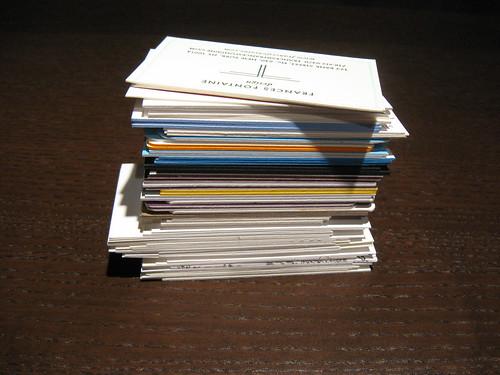 Letterpress Business Card Stack