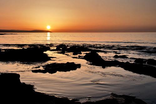 フリー写真素材, 自然・風景, 海, 海岸, 夕日・夕焼け・日没, イギリス,