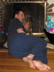 Early Morning Smoke (Tobyotter) Tags: man male guy feet foot friend aaron barefoot barefeet