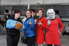 Supanova 2011 Melbourne - Star trek girls + 1 tribble.