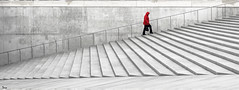 red (TeRo.A) Tags: red stairs grey stair tallinn estonia steps step punainen harmaa portaat nikond300s