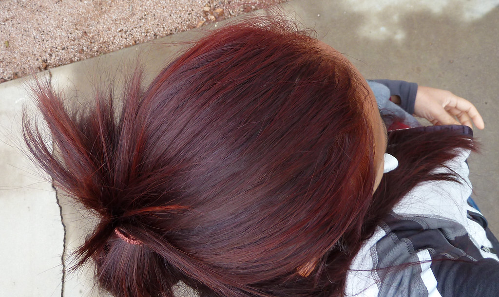 Newly colored red hair
