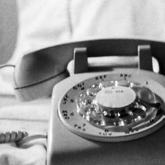Communications (CPMcGann) Tags: bw square interesting phone dial plastic 1981 grayscale colorless att westernelectric rotarydial greytones before911 achromatic pacifictelephone 0foroperator