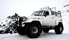 Toyota Land Cruiser 70 (Brynja Eldon) Tags: trooper iceland inch nissan jeep tire land cruiser patrol 44 sland 38 isuzu weel weels tommu landcruiser70 tommur