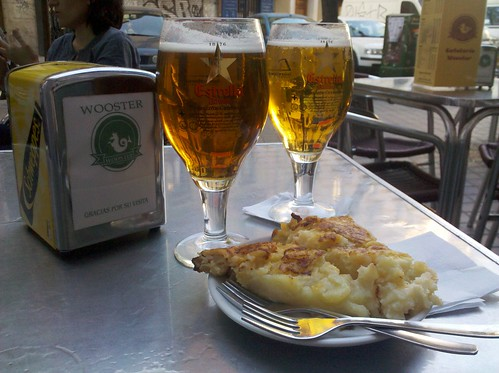 beers and potato tortilla