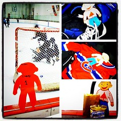 Flat Stanley at Jackson' hockey practice