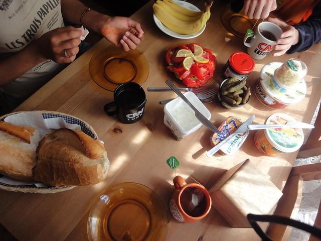 Pequeno-almoco em Istambul Turquia